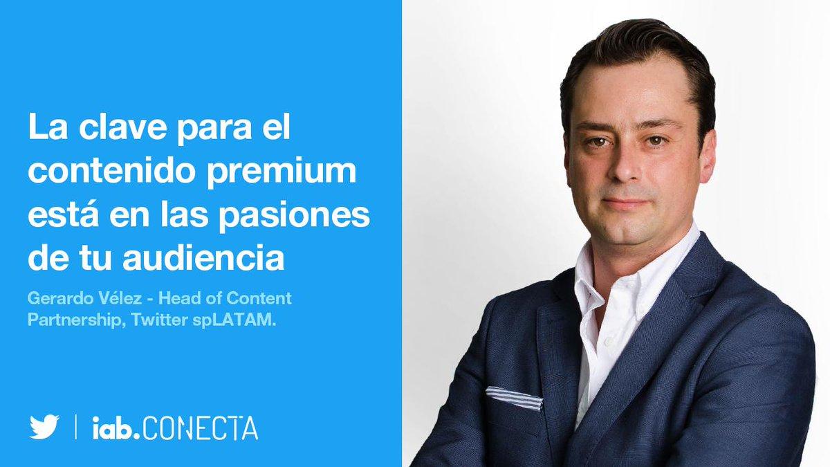 En #IABConecta podrás conocer más sobre contenido premium con @Gevema, Head of Content Partnership en Twitter LATAM. #EmpiezaConEllos