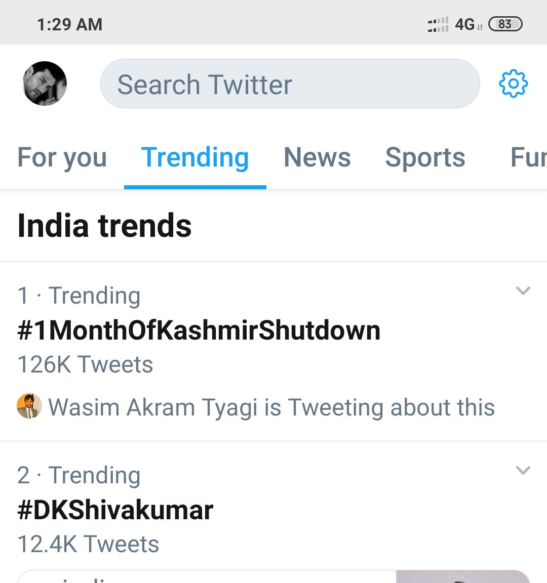 savekashmiris hashtag on Twitter