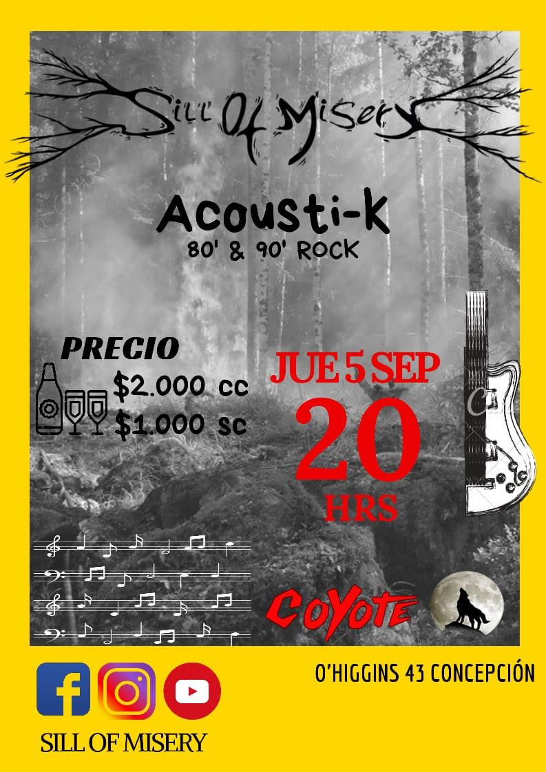 Este Jueves 5 de Septiembre, estaremos tocando en Coyote Restobar