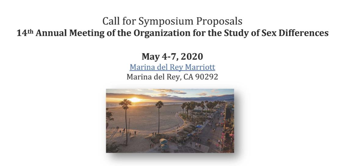 Organization for the study of sex differences meeting