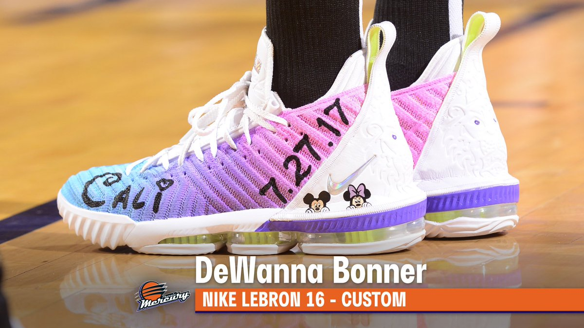 .@DEEBONNER24 honors her daughters on her custom #WNBAKicks for Women of Inspiration Night in Phoenix 🥰