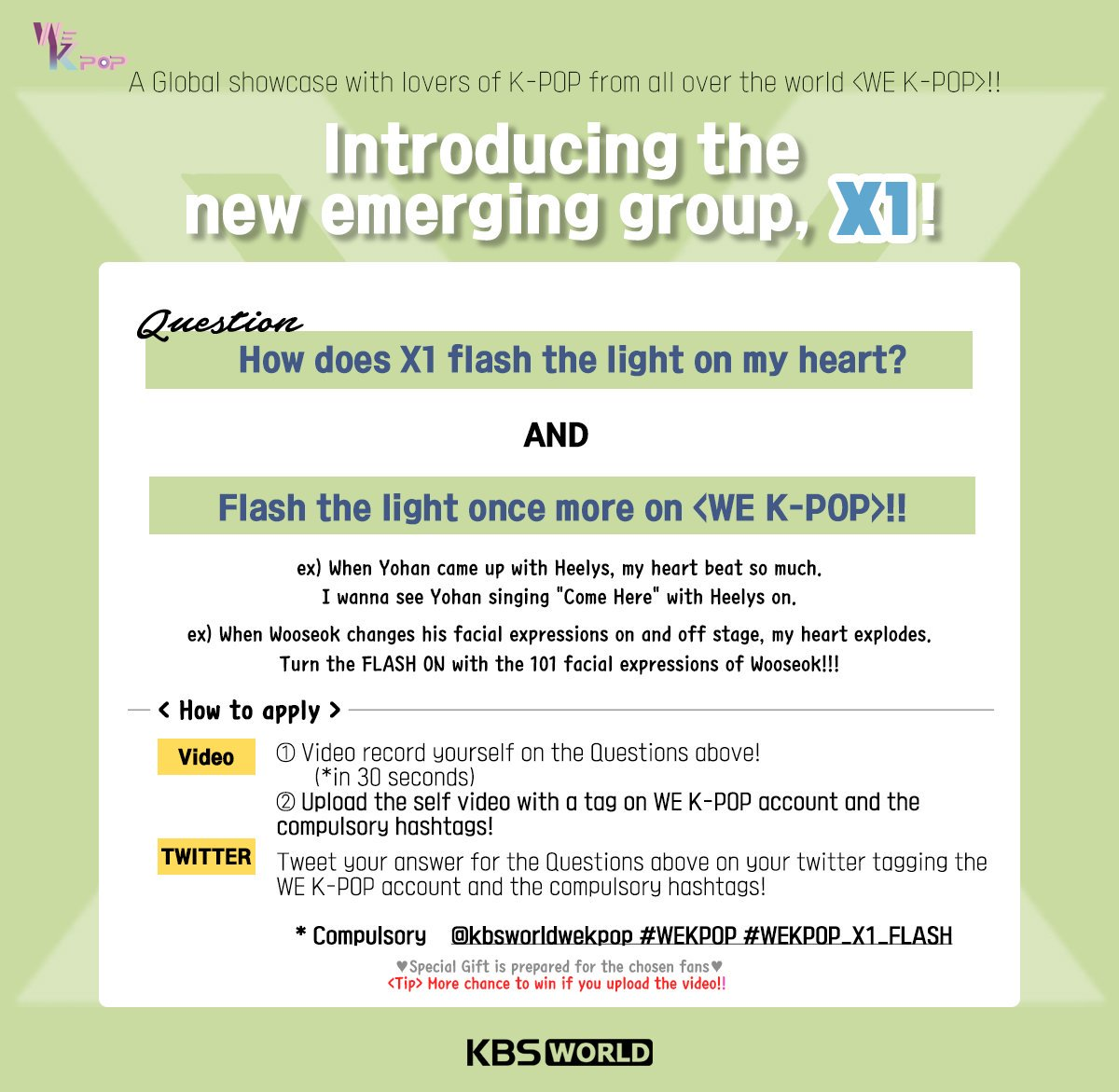 #KBSWorld Global #KPOP Show <WE K-POP> with #X1 🎶 Click the image to check the Descriptions!! #WeKpop #위케이팝 #X1 #kpop @x1official101