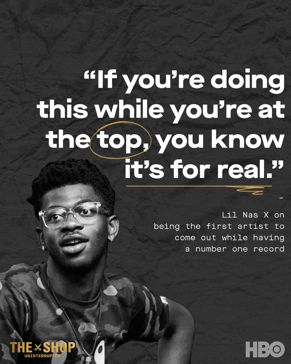 .@LilnasX...wise beyond his years. #TheShopHBO