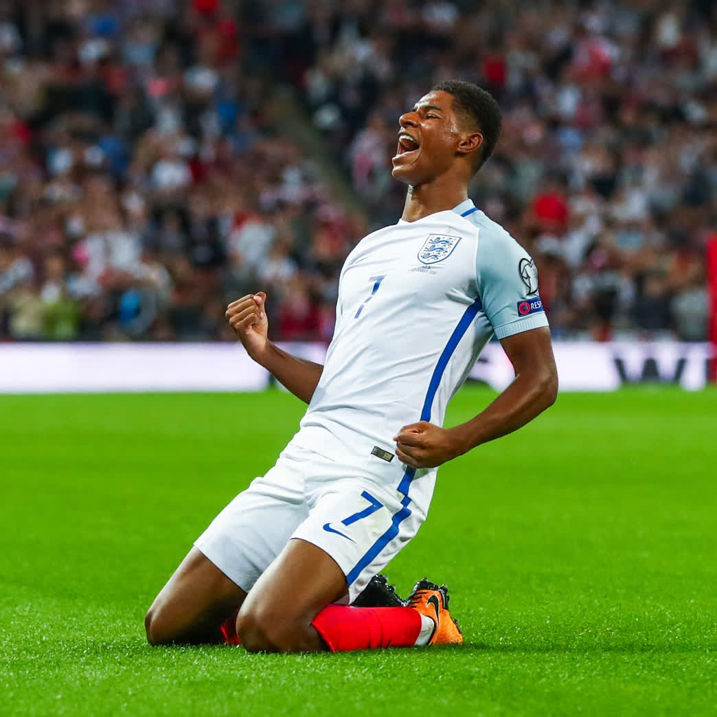 #OnThisDay in 2017, @MarcusRashford marked his first @wembleystadium start with a great goal to help the #ThreeLions see off Slovakia 👌