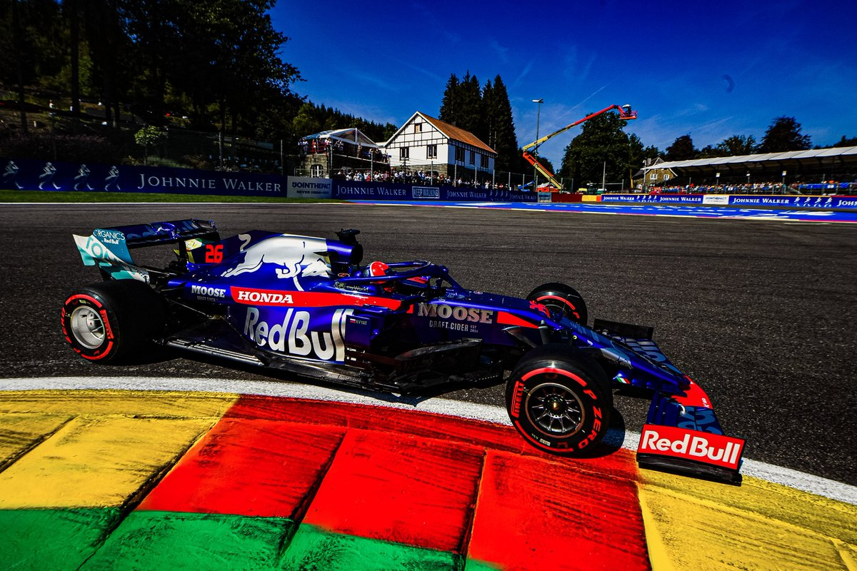 Both Toro Rosso Honda scored double points finish at the 2019 F1 Belgian Grand Prix.  Daniil Kvyat finished seventh from P19 on the grid meanwhile Pierre Gasly finished ninth from P13 on the grid.  #tororossohonda #hondaracingf1 #f1 #BelgianGP #daniilkvyat #pierregasly