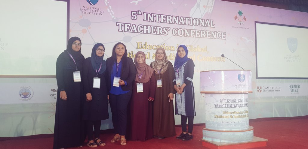 At the 5th International Teachers' Conference 2019  #ITC2019