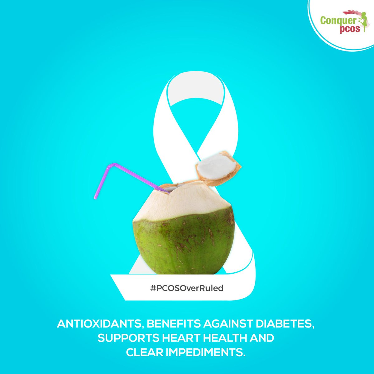 Conquer Pcos On Twitter Ready To Overrule Pcos Consuming Coconut Water Daily Helps Women With Pcos In Numerous Ways Since It Is Rich In Potassium Fiber Vitaminc And Many Other Nutrients It