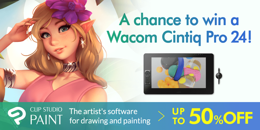A chance to win a Wacom Cintiq Pro 24! Follow the official Clip Studio Paint account and retweet this tweet for a chance to become a lucky winner of a Wacom Cintiq Pro 24! For more details, click here:  https://www.clipstudio.net/promotion/giveaway/en/…