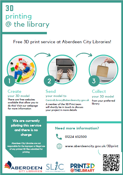 Great to see this initiative for public access #3dprinting in Aberdeen.  Bravo.