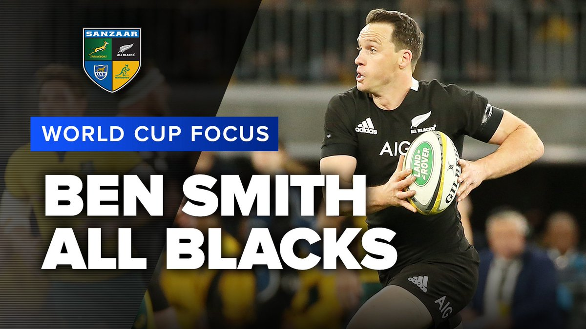 WORLD CUP FOCUS | Ben Smith, All Blacks Ben Smith enters his second World Cup as the oldest All Black on the list. With runs like this one we expect to see plenty more of him turning the youngsters inside out. #RWC2019