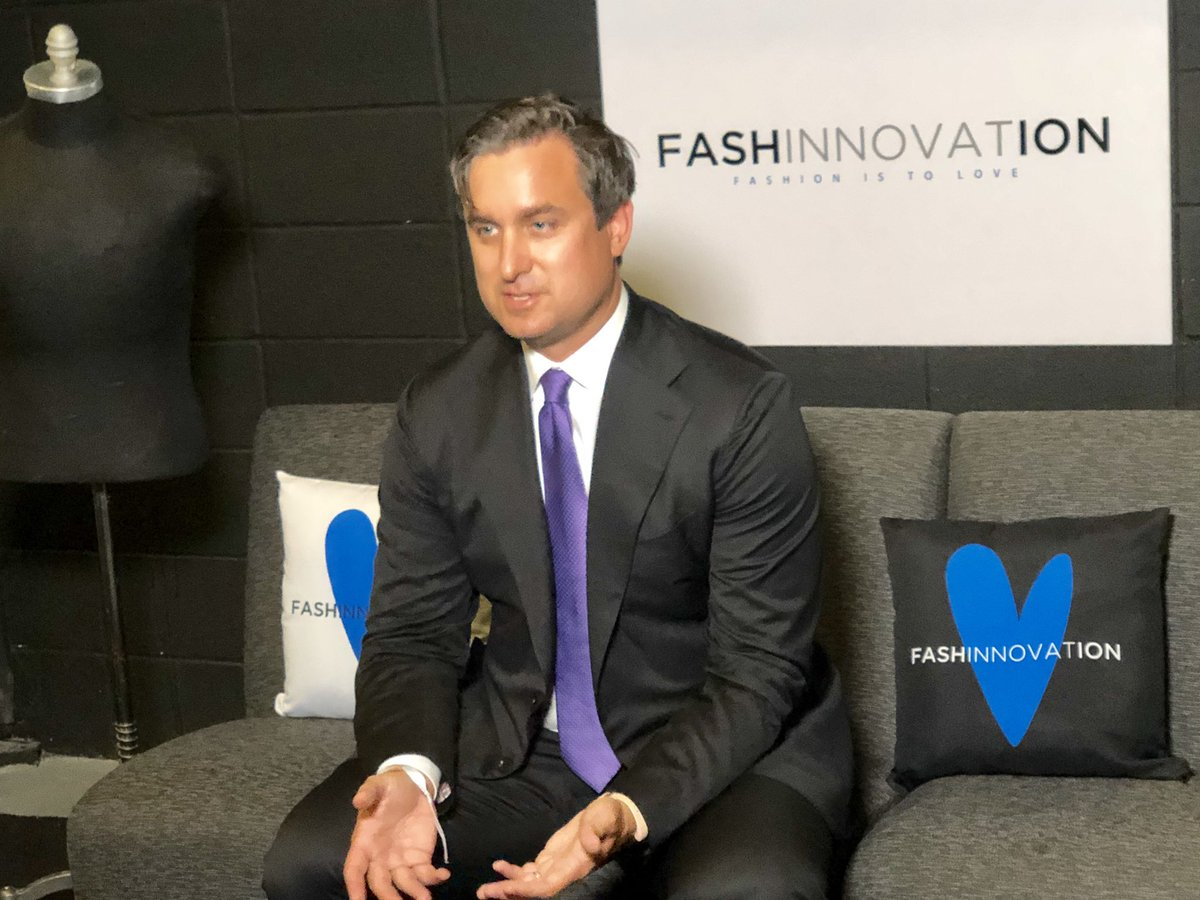 We are at @FashInnovation today!  @tollyc gearing up for the stage. What does Fashion mean to you? #FASHINNOVATION #FashionIsToLove #FashionWeek #LeaveYourLegacypic.twitter.com/WvuLYdT1ia