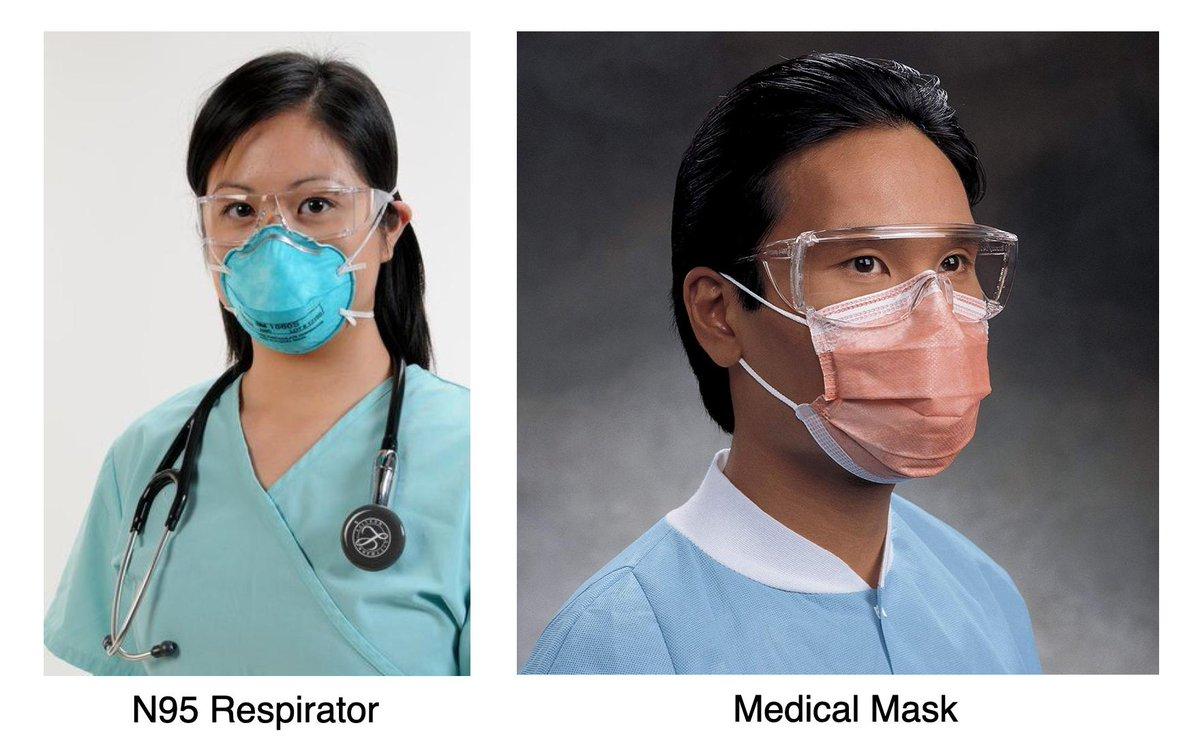 n95 respirators vs medical masks