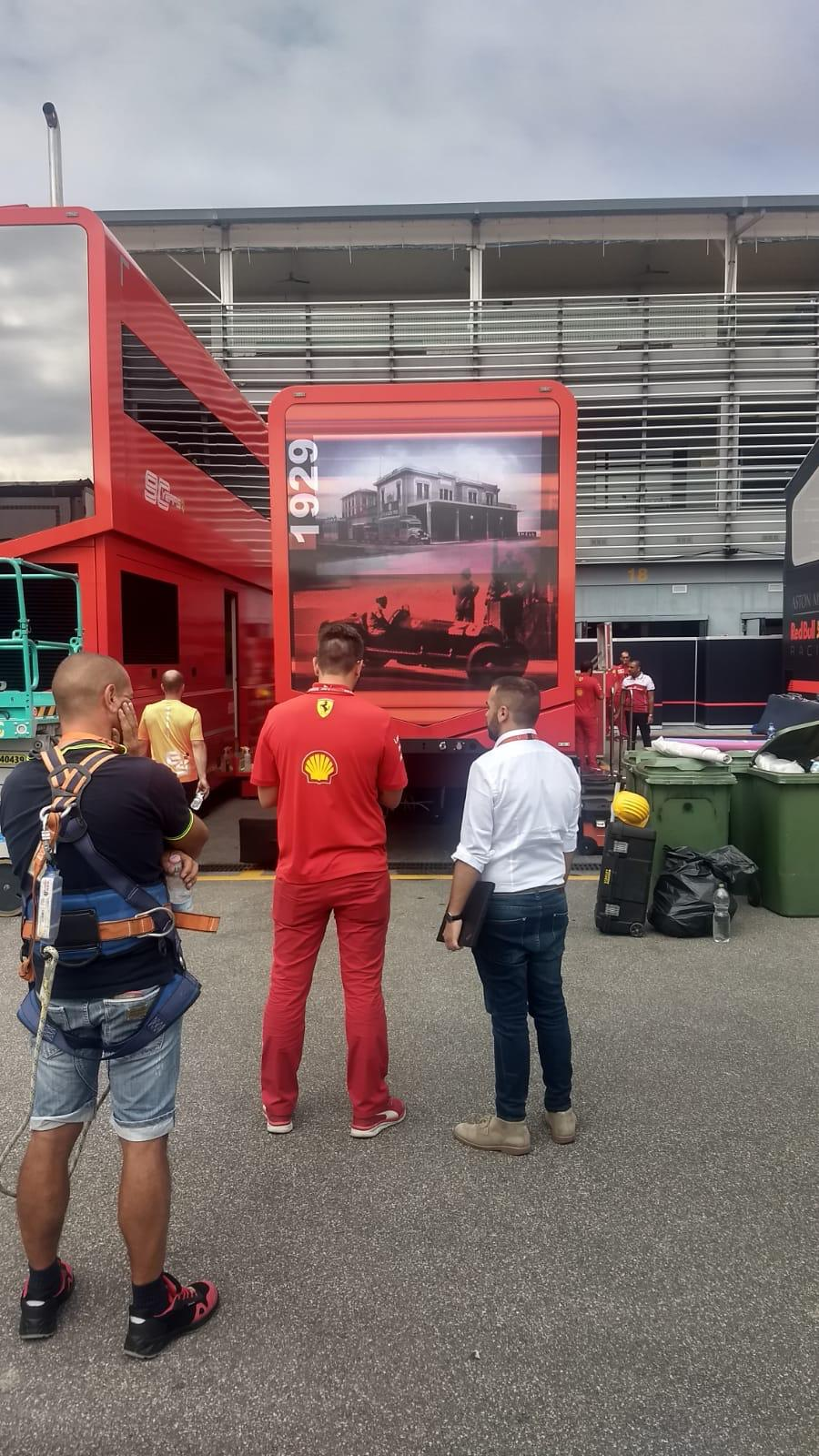 In pictures: new graphics displayed at Ferrari in Monza