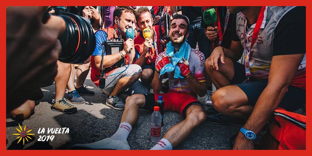 🎁 Jeu concours 🎁 Pas de repos pour les cadeaux !😉 Follow + RT pour tenter de remporter une clé de téléchargement du jeu Pro Cycling Manager 🎮🚴♂️ Tirage au sort à 17h 🏁 #CofidisMyTeam #LaVuelta19 📸 @SarahMeyss / @lavuelta