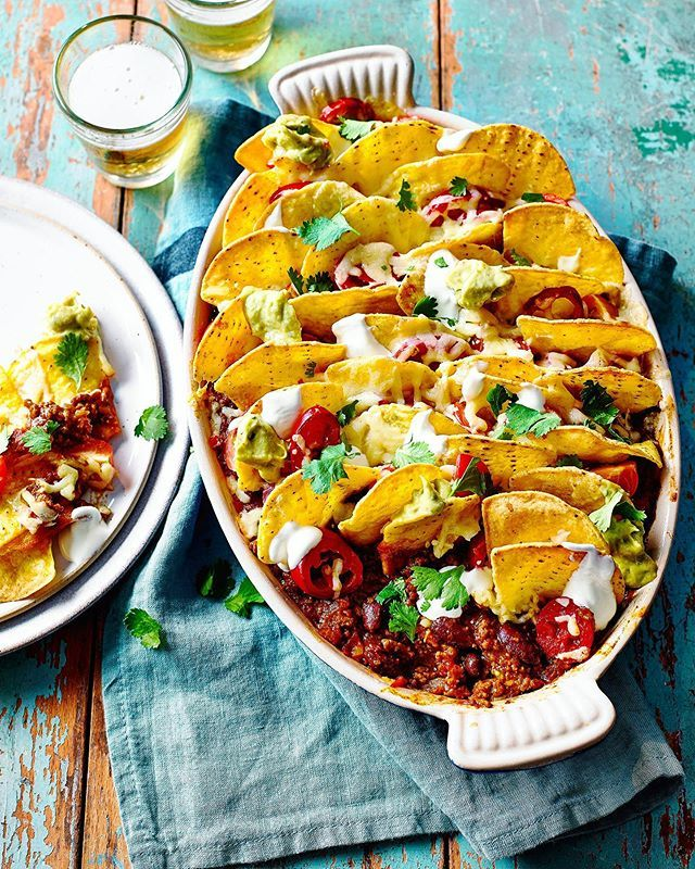 Nacho Chilli Beef loaded up with toppings from this month's @goodhousekeepinguk bumper 20 page traybake feature shot with @meikebeck @foodieemma @aliceeshields @jenny_igg https://ift.tt/2UuzdxI