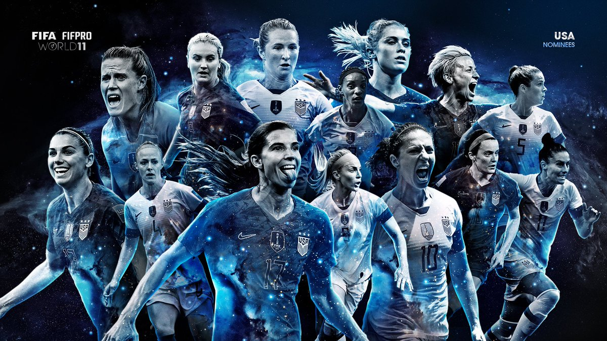 @USWNT Congratulations! These players have been selected for the @FIFAcom @FIFPro #World11 shortlist by their fellow professional footballers. 👏    👀👇 https://fifpro.org/news/women-s-2019-world-11-shortlist/en/…   #FIFAFootballAwards #TheBest #OneStage