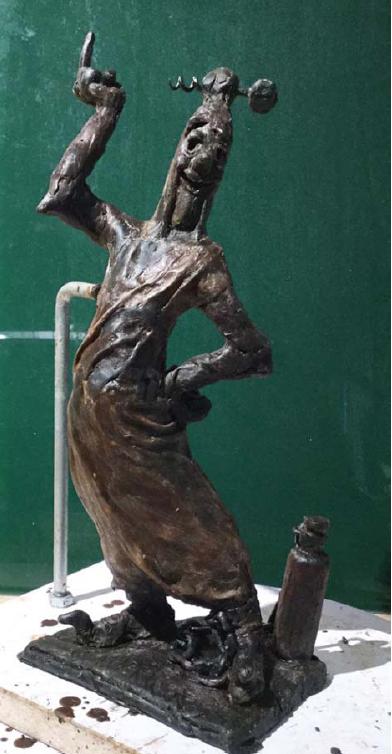 Bronzen Beeld Sus Antigoon