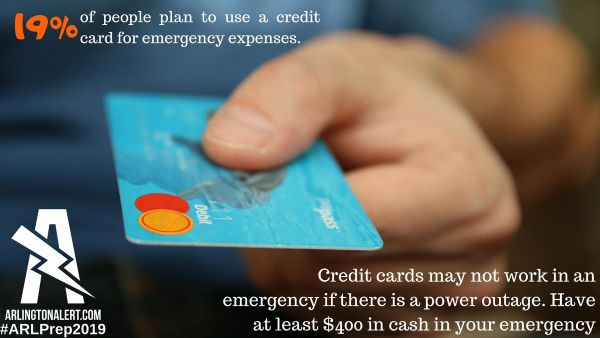 Immediate Credit Card >> Ready Arlington On Twitter Always Keep Cash On Hand In