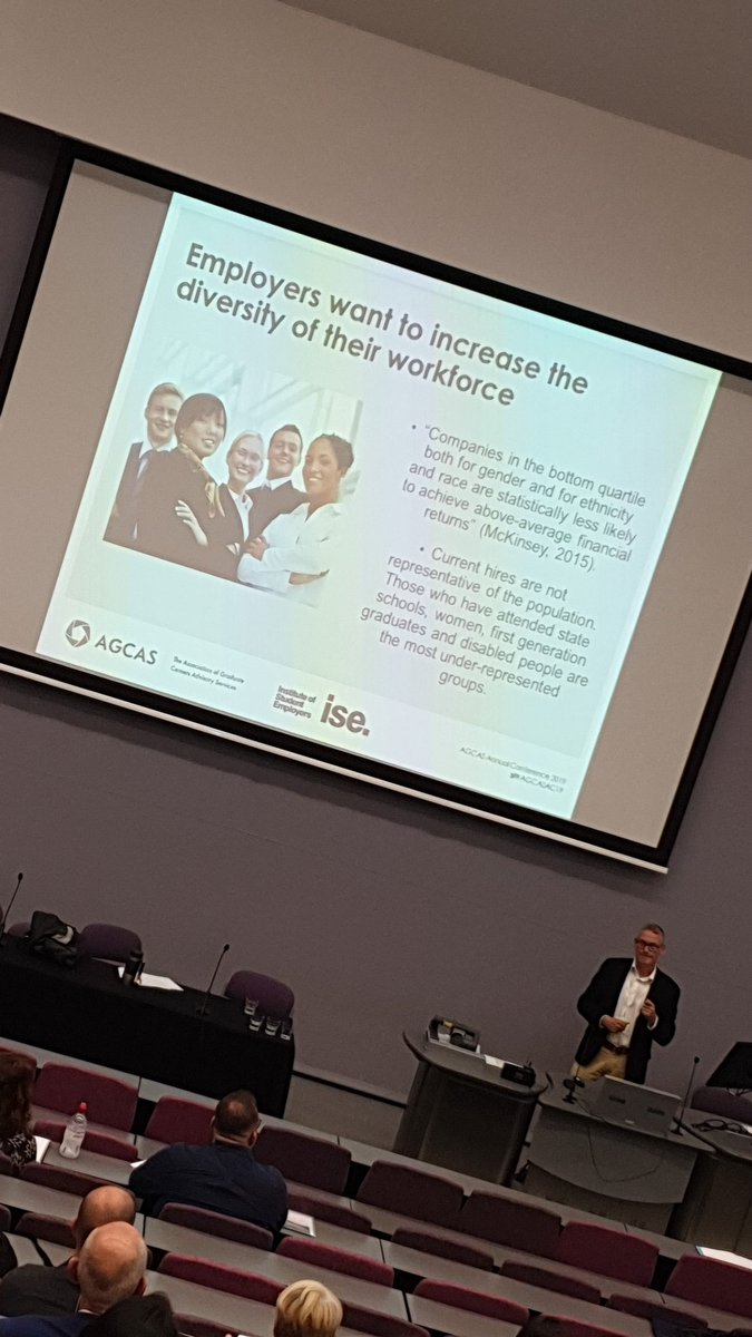 Employers want a more diverse workforce, it is important not just for moral reasons but financial reasons too #AGCASAC19