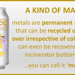 Image for the Tweet beginning: Metals are permanent materials that