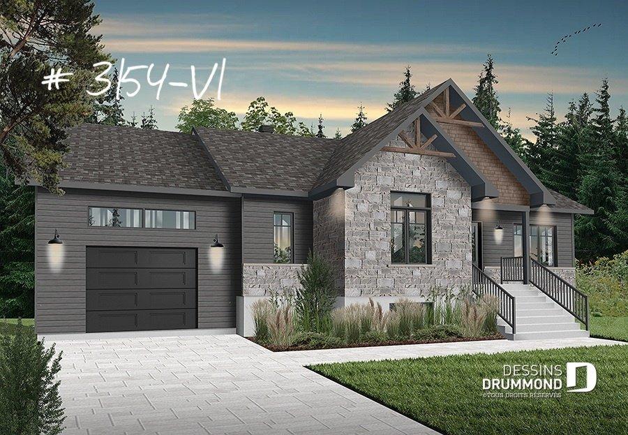Plan Maison 3 Chambres 2 S Bain Garage 3286 Dessins Drummond 14