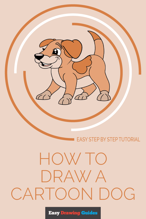 Easy Drawing Guides On Twitter Learn How To Draw A Cartoon Dog