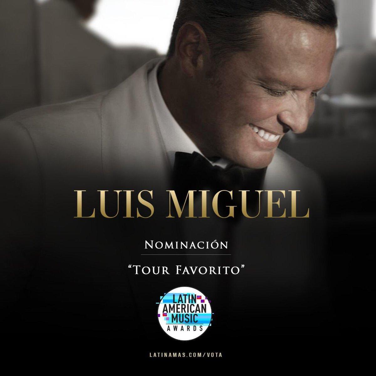 RT @LMXLM: Gracias @LatinAMAs por esta nominación para #LuisMiguelTour2019! #LatinAMAs https://t.co/4jxQNUf1mX