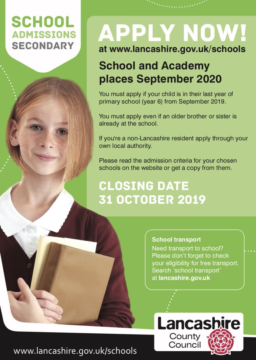 Image result for lancashire applying for secondary school
