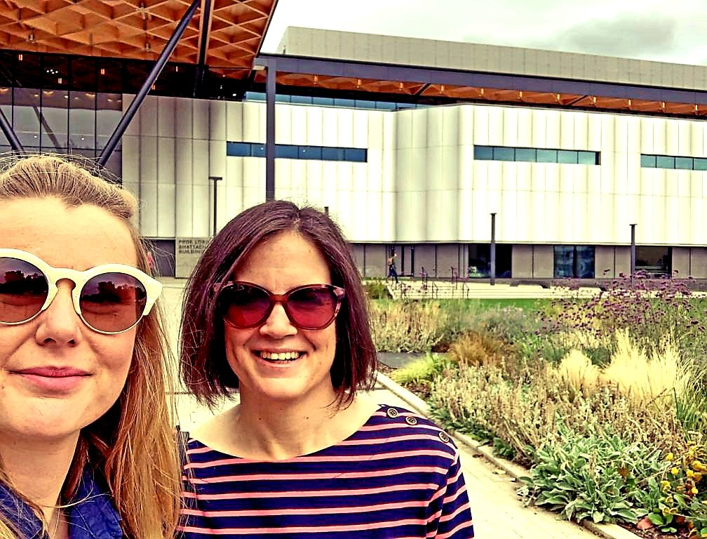 The biggest engineering department @JacquiTrue and I have ever seen! Enjoying the English summer weather at the kickoff of our Monash-Warwick Alliance project on Inclusive Economies and Enduring Peace with @juanitaelias Shirin Rai, Nicola Pratt & Jayanthi Lingham
