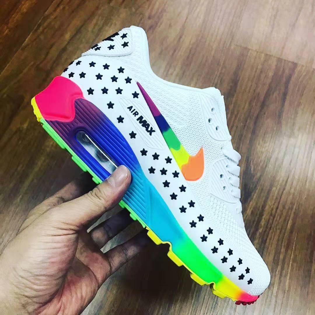 colourful nike air max 90