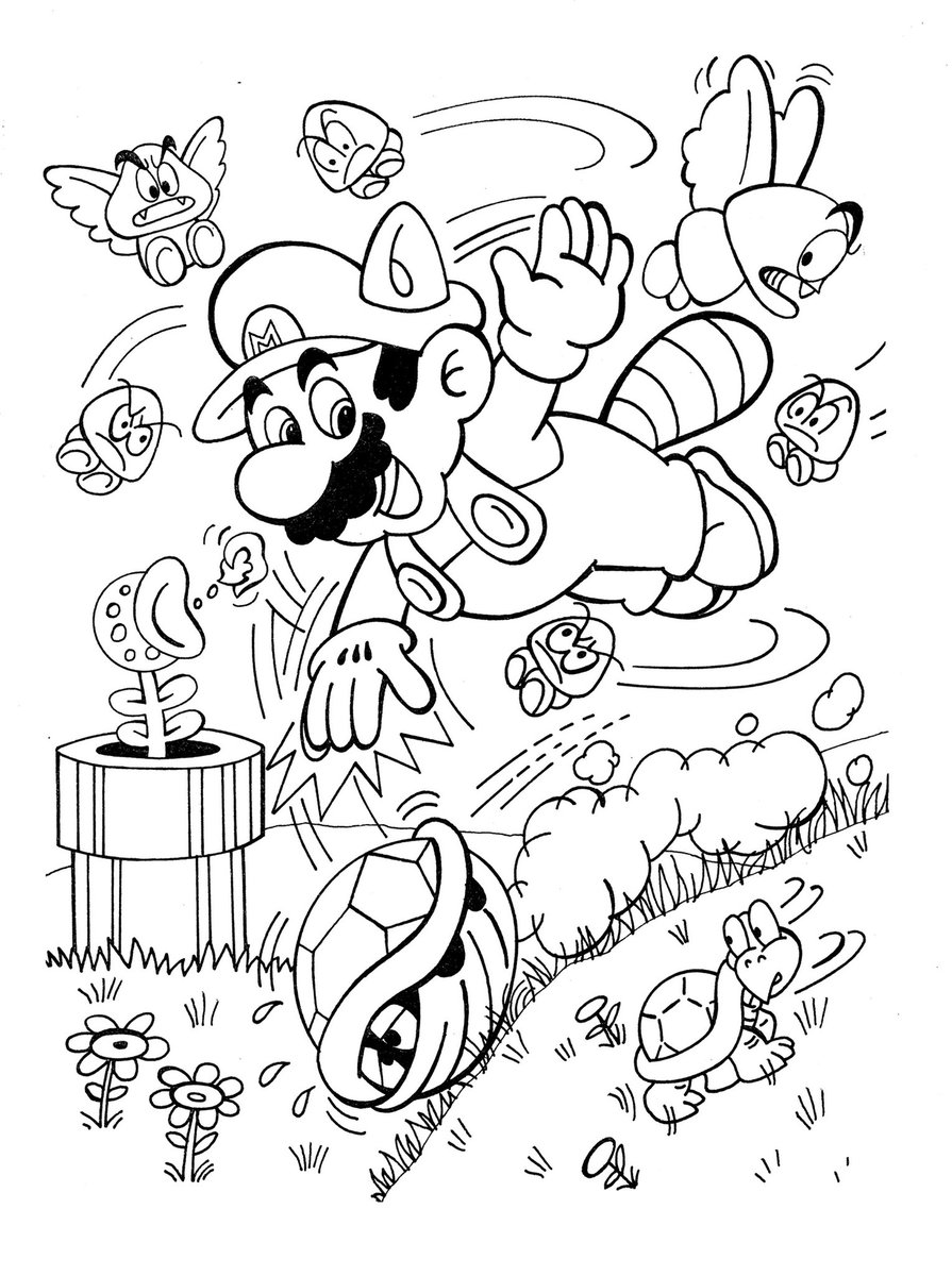 Super Mario Bros. coloring pages | Free Coloring Pages | 1200x895