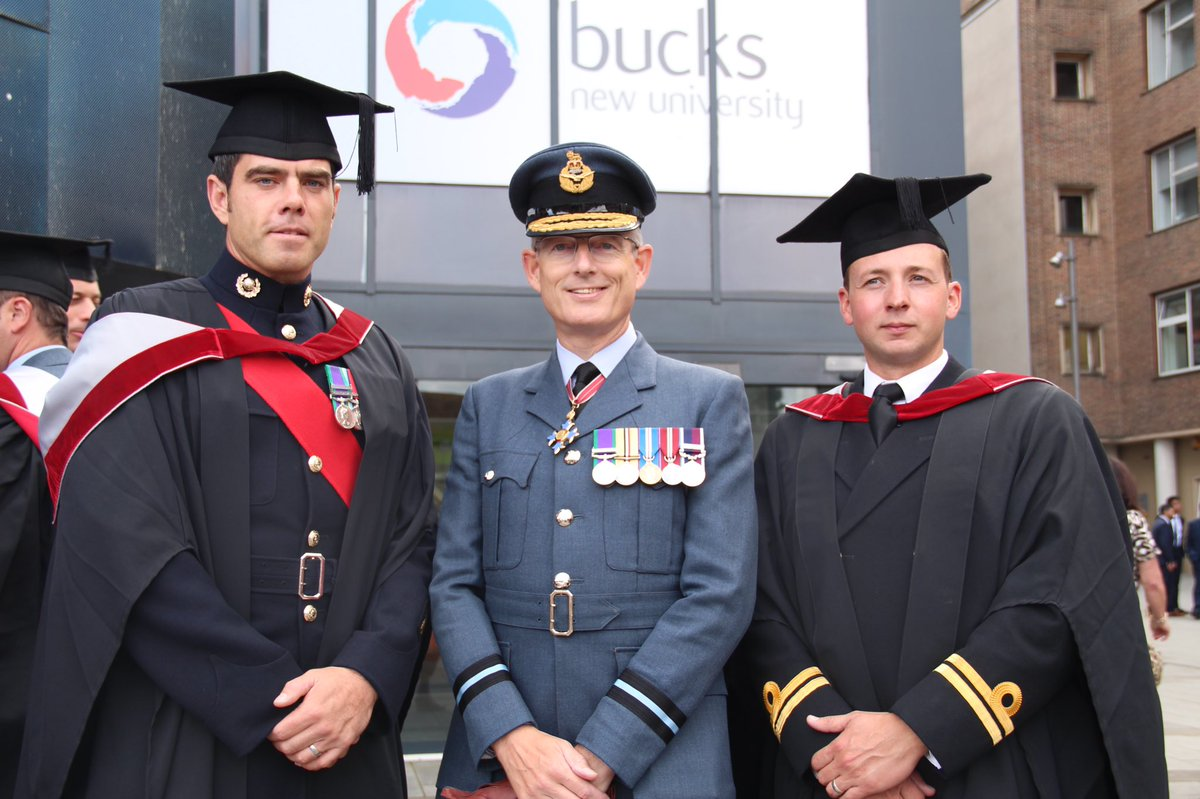 Great day @BucksNewUni celebrating our graduate military students #BucksGrad19