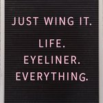 Image for the Tweet beginning: Just Wing It.  Life. Eyeliner.  Everything.  #sevabeauty #beautytothepeople