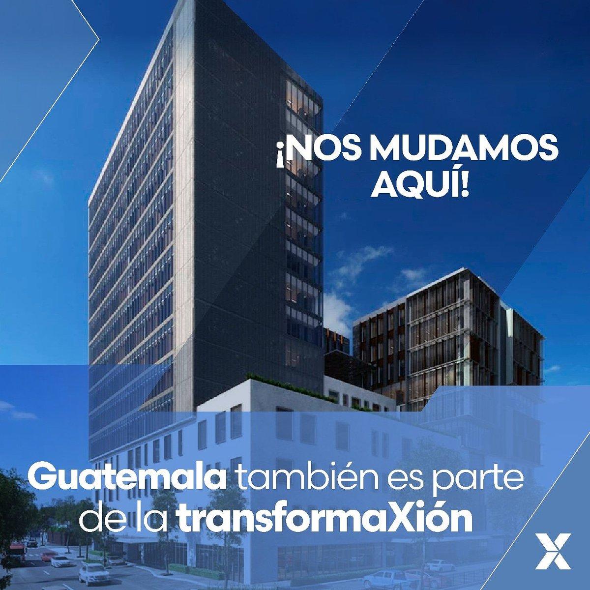 ¡Guatemala también es parte de la transformaXión!  A partir del 01 de octubre las oficinas de @fuxionoficial #Guatemala se trasladan a Boulevard Los Próceres, 13-50 de la zona 10, Centro Corporativo Los Próceres, 1er nivel, Local 103. https://t.co/dG8xgeqbwQ