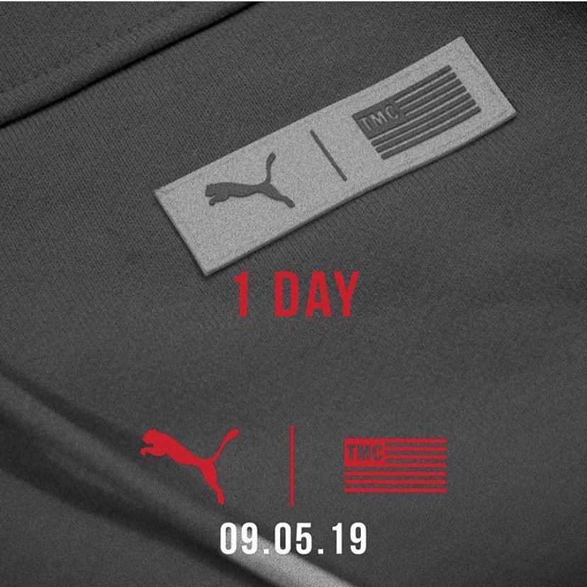 "PUMA x TMC collection  dropping 9.5.19  100% of the net proceeds from the sales will be going directly to the Neighborhood ""Nip"" Foundation.  #PumaxTMC <br>http://pic.twitter.com/GNicwbKSQ5"