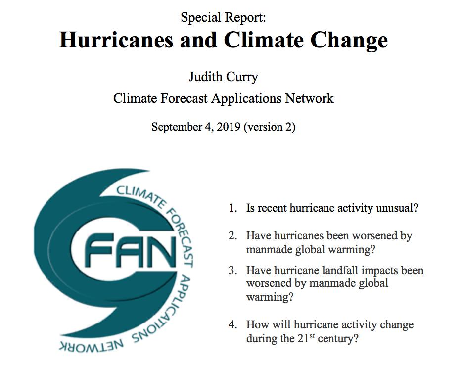 Every damaging hurricane is now greeted with alarm about manmade global warming. If you are concerned and/or confused, my new Report can help you understand the evidence.  https://curryja.files.wordpress.com/2019/09/sr-hurricanes-6-v2.pdf…