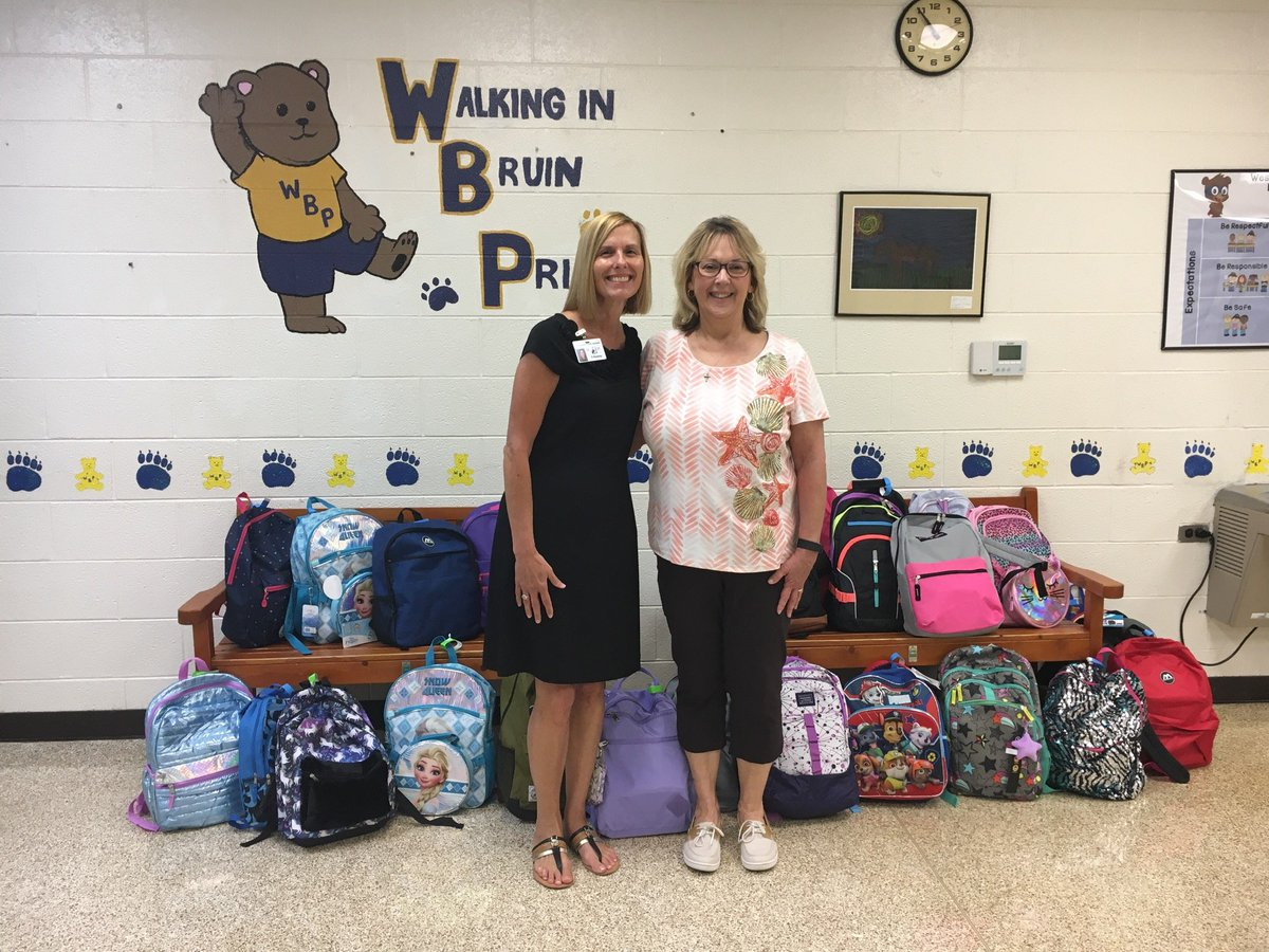 We wish to thank our friends at Community Church @CCfullyalive for donating backpacks full of supplies for our students! #CommunityPartnerships