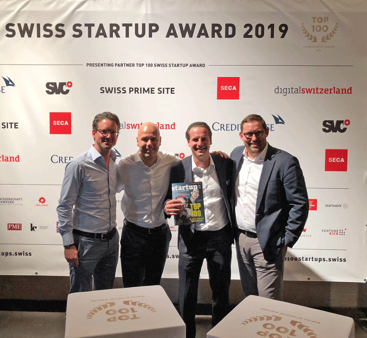 Honoured to be a TOP 100 Swiss Startup! Congratulations to @fly_ability for #1 spot and the other winners! Keep building 🚀 #TOP100SSU #SwissStartups #Fintech #Cryptofinance @JanBrzezek @PirroMorandi @marcpbernegger @venturelab_ch