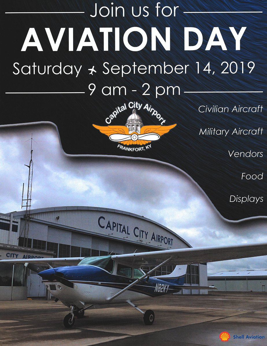 Aviation Day is this Saturday! Join us at Capital City Airport in Frankfort for a free day of family fun ✈️✈️✈️