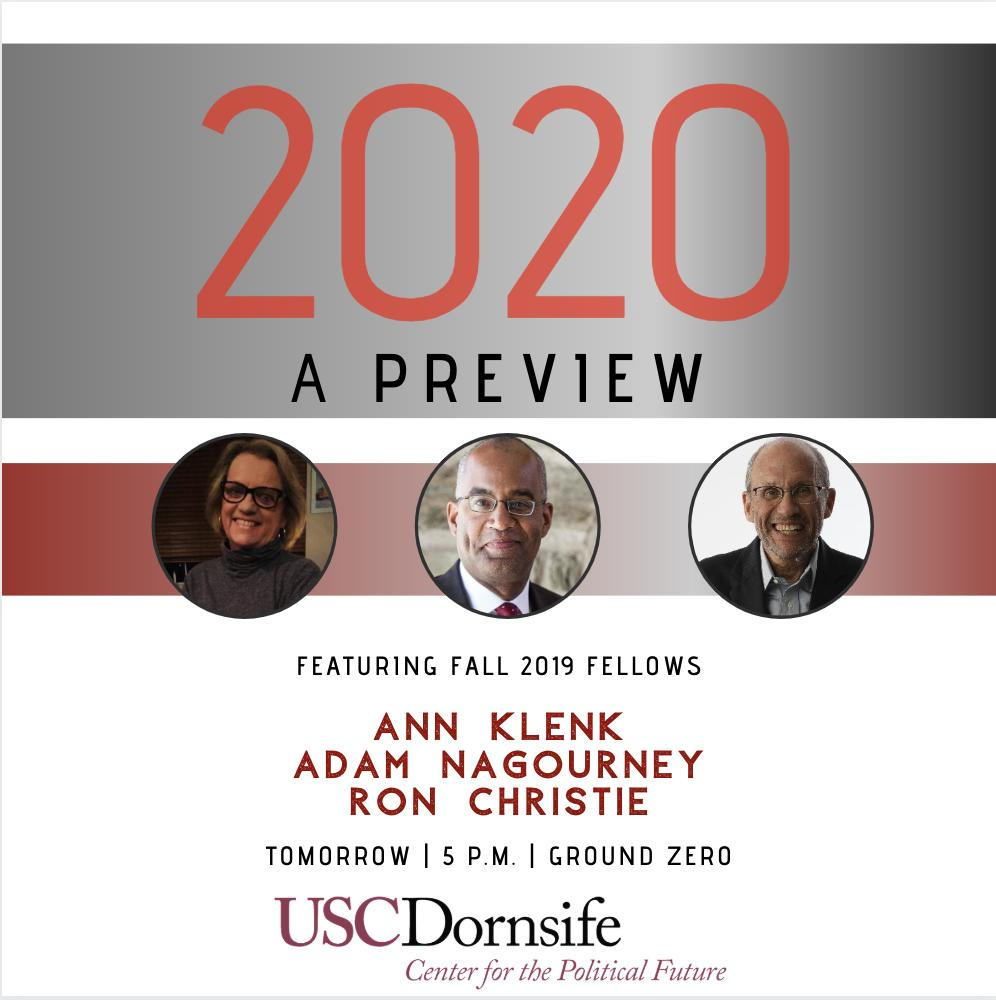 Usc Fall Semester 2020.Usc Center For The Political Future On Twitter Tomorrow