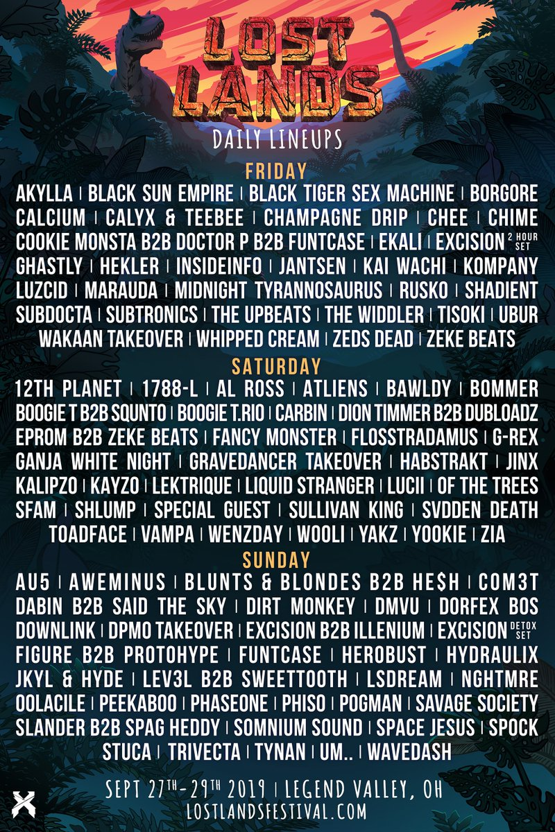 Image result for lost lands daily lineup