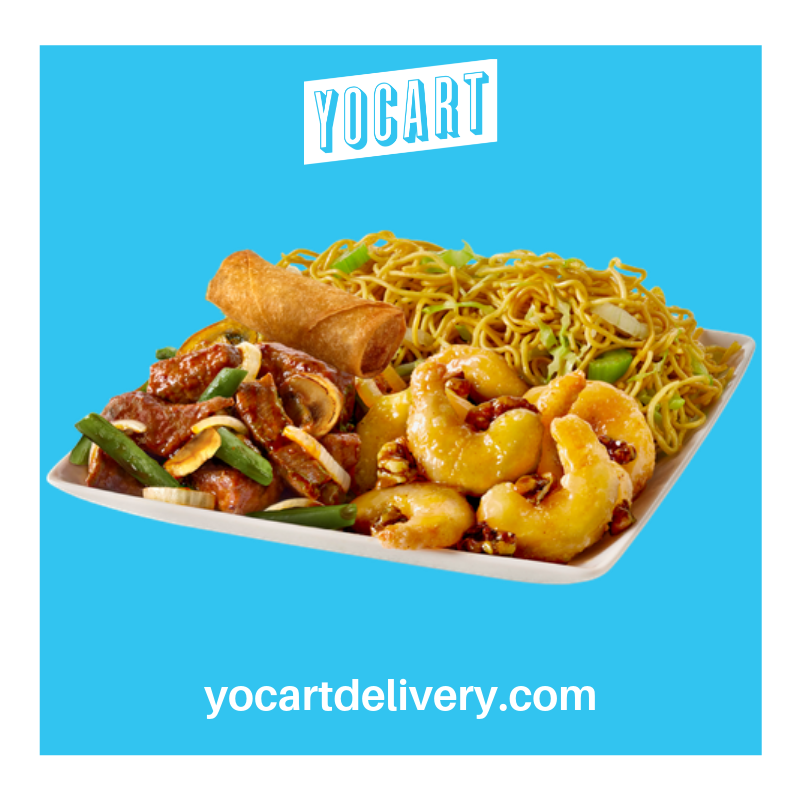 Chinese Favorites Delivered. #pandaexpress #yocartdelivery #tuscaloosa #fooddelivery