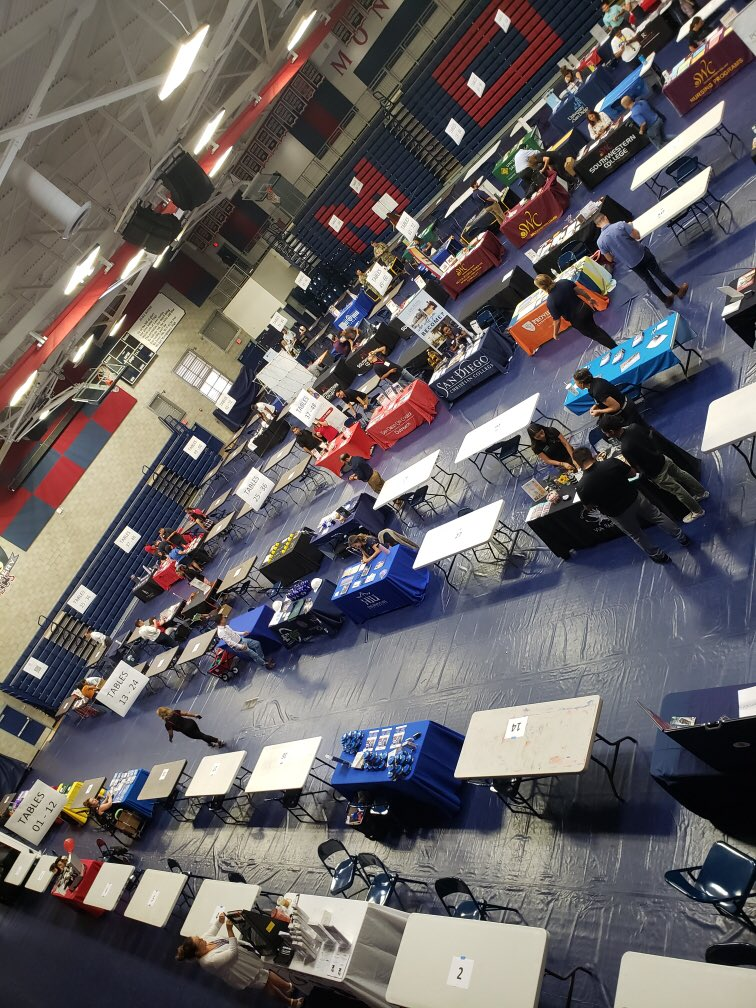 Just 10 minutes until the College & Career Expo! Sweetwater District students and community meet us there! #suhsd