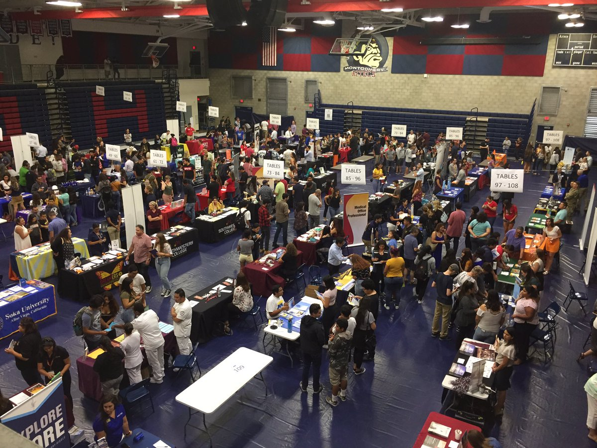 And we're off! 2019 College and Career Fair! @SUHSD