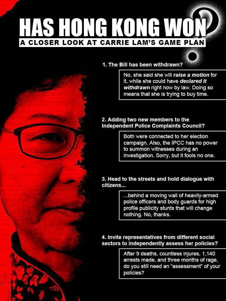 Some facts you have to know about latest Hong Kong protest development. #antiELABhk