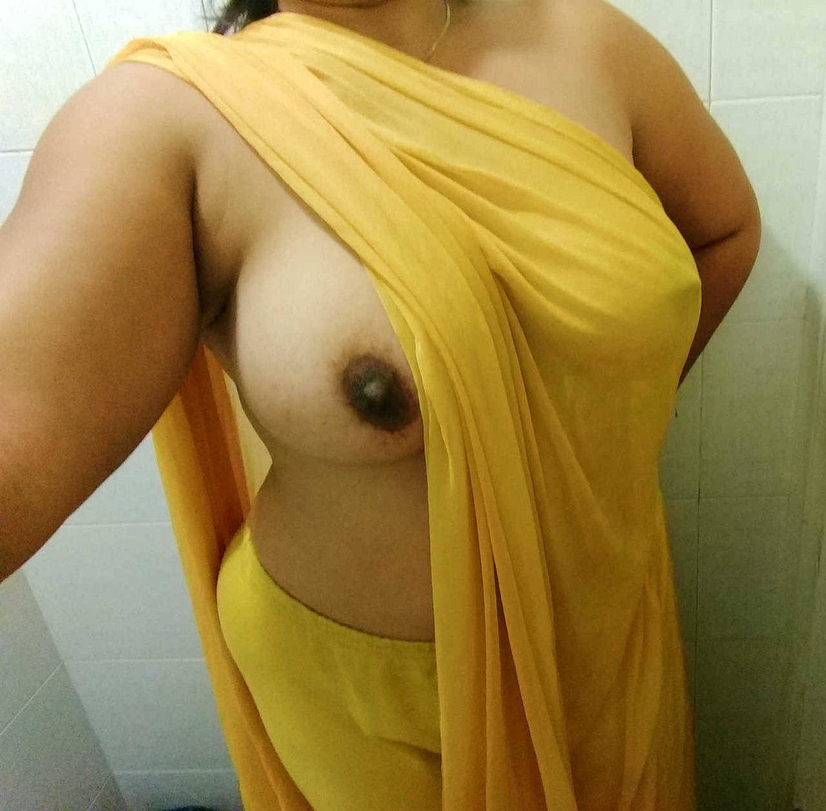 Mallu Aunty Showing Her Big Tits In Traditional Saree