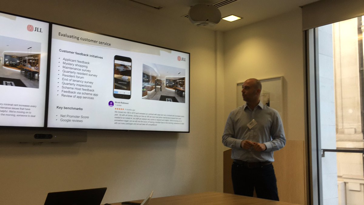 Sam Winnard, JLL talking about ways to get feedback beyond the 'keyboard warrior'