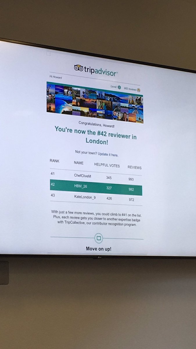 Howard Morgan @RealService reveals his top score on trip advisor because he fundamentally believes in the power of customer feedback...if it's done right...