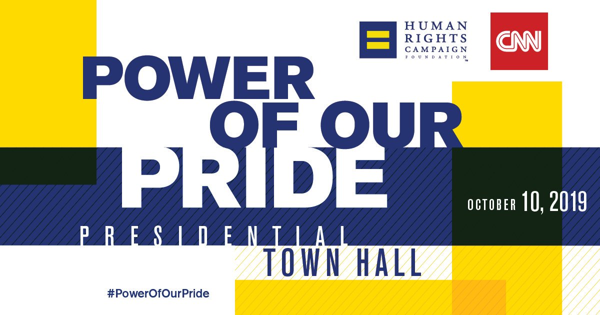 Thank you to the 2020 candidates who have committed to joining @HRC Foundation's historic #PowerOfOurPride Democratic presidential town hall to discuss the vital issues facing LGBTQ people: 🏳️🌈@JoeBiden 🏳️🌈@PeteButtigieg 🏳️🌈@JulianCastro 🏳️🌈@KamalaHarris 🏳️🌈@amyklobuchar 🏳️🌈@ewarren