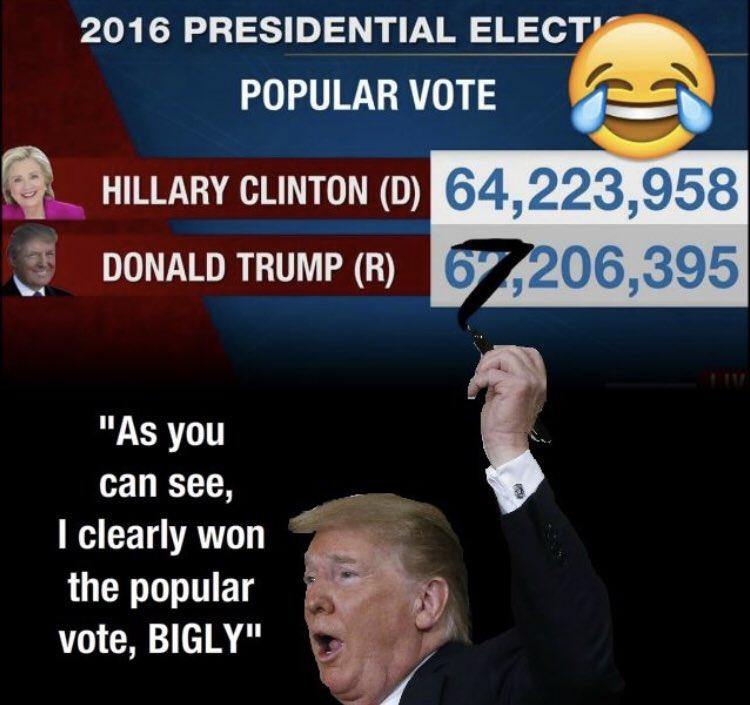 Трамп пририсовывает себе цифру 7 к резултатам выборов